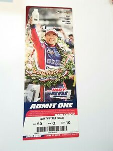 2018 Indianapolis Indy 500 Ticket Stub Will Power Takuma Sato Crease