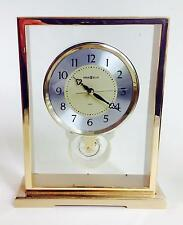 HOWARD MILLER CASED LUCITE SKELETON DESK SHELF CLOCK