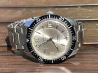 Vintage Sheffield Diver Jumbo Watch Automatic with Date 25 Jewels Bracelet Swiss