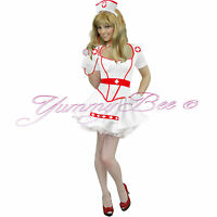 Nurse Fancy Dress Costume Sexy Plus Size Womens Adult Hen Night Naughty Outfit