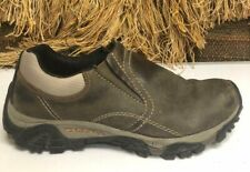 Merrell Mens Moab Rover Moc Slip-On Shoes Kangaroo Brown Leather Vibram Size 9