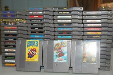 Original Nintendo NES Lot of 65 Games Mario Mike Tysons Zelda Metroid Nice Lot