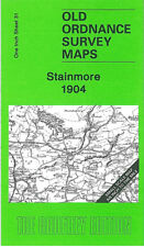 OLD ORDNANCE SURVEY MAP STAINMORE BROUGH MIDDLETON IN TEESDALE MICKLETON 1904