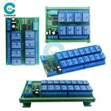 DC 12V 8/16Channel RS485 Relay Modbus RTU Protocol Remote Control DIN Rail Case