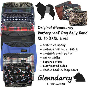 Glenndarcy Washable Male Dog Belly Band XL to XXXL I Urine Incontinence