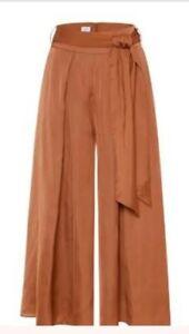 Sheike Size 12 Cluottes Wide Leg Pants Tie Waist Pockets