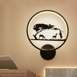18W LED Wall Sconces Surface Mounted Light Fixture Decoration Deer Hotel Indoor