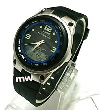 Casio Aw-82-1a Moon Phase Dual Time 50m Fishing Gear Black Resin Men's Watch