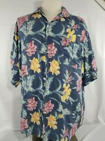 Tommy Hilfiger Hawaiian Shirt Men's Size Large Floral Print