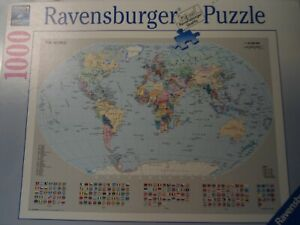 """Ravensburger 1000 piece jigsaw puzzle """" The World """" very good condition"""