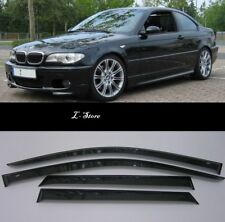 For BMW 3 Coupe E46 1999-2006 Side Window Visors Sun Guard Vent Deflectors
