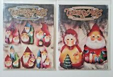 Elaine Thompson Works of Art Christmas LOT Tole Painting Pattern Packet+Pop-Outs