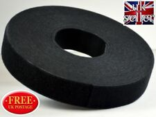 Velcro Strap Cable Tie Hook & loop One Wrap back to back Strapping 16mm in Black