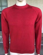 Vintage Jerzees 50/50 Soft Crewneck Sweatshirt Blank Solid Red USA Made Medium