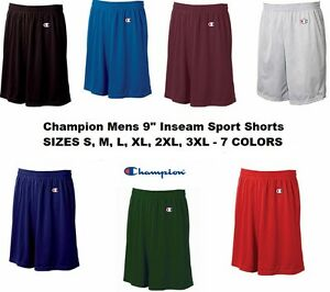 "Champion Mens NEW Size S-3XL Athletic Poly Mesh Gym 9"" Inseam Basketball Shorts"
