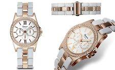 NEW Geneva Platinum 2397 Women's Ticino Women's Girls White/Rose Gold Cute Watch