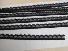 0,99€/m-Französische nicht elastische Spitzenborte in schwarz 2m x 10mm