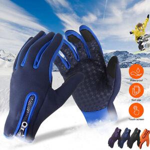 Winter Gloves Men Womens Waterproof Windproof Touch Screen Outdoor Sport Driving