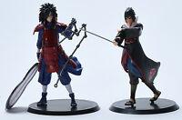 Japan Anime Naruto Uchiha Sasuke Uchiha Madara PCV Figure Toy Doll 2 pcs 18cm