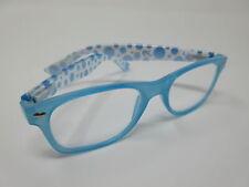 Hochwertige Damen Lesebrille +3,5 blau Lesehilfe mit Flexbügel und Etui Sehhilfe