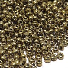 Perles de Rocailles en verre Opaque 2mm Bronze luisant 20g (12/0)