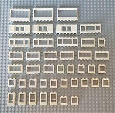 Lego Vintage Alte Fenster Und Tür Weiß 42 St City Creator Eisenbahn Window (12)