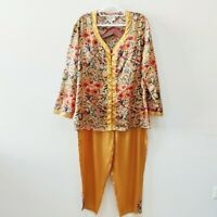 Vintage| Victoria's Secret Gold Label Silk Pajamas Size Medium