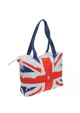 ROBIN RUTH Tote Style Union Jack Beach Bag - Holdhall Flag UK GB Handbag Zipped