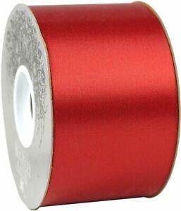 "McGinley Mills 2.5"" W Acetate Satin Ribbon, Red, 50 Yard Spool"