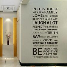 House Rules Art Words-Nature Vinyl Wall Paper Decal Art Door Wall Sticker Mural
