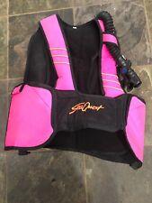 SeaQuest Diva Womens Pink Buoyancy Control Device Dive Scuba Vest Sz Small BCD