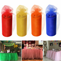 72FT TULLE TABLE SKIRT TABLEWARE CLOTH COVER WEDDING BIRTHDAY PARTY DECOR FADDIS