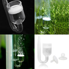 Aquarium Glass CO2 Diffuser With Suction Cups Planted Fish Tank Accessories US