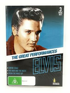 Elvis The Great Performances (DVD, 3-Disc Set) All Regions Free Postage