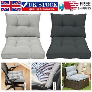 Outdoor Cushions Garden Chair Back and Seat Cushion Pads Replacement Cushions UK