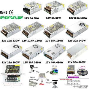 DC 5V 12V 24V LED Netzteil Trafo Schaltnetzteil Adapter Power Supply LED Strip