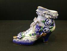 Limoges China Porcelain Victorian Ladies High Top Boot Hand Painted g14