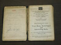 VINTAGE 1929 BURLINGTON ROUTE LINES OPERATING DEPT CODE OF RULES TRAIN BOOK