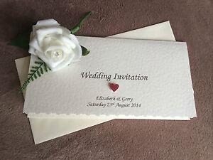 Personalised Luxury Pocketfold Wedding Invitation. Emily