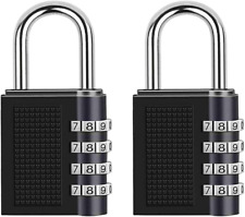 Combination Padlock 4 Digit Combination Lock For School Gym Outdoor Shed Black
