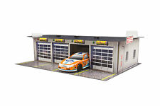 "BK 4311 1:43 Scale ""4 Stall Pit Garage"" Photo Real Scale Building Kit"