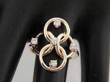 .25 ct Designer Diamond Cocktail Wide Ring Scrolling 14k YG G/SI Unique Estate