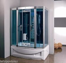 Steam Shower Room With deep Whirlpool Tub.BLUETOOTH.USA Warranty