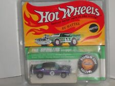 1970 Hot Wheels Redline King Kuda Purple w/blk top wht.int on Unpunched Cad