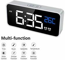 LED Display Digital Alarm Clock, Easy Digital Clock for Kid Senior, Snooze, 12/2