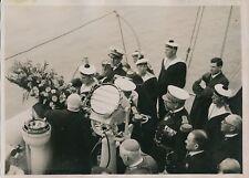 Marine Nationale Française c. 1930 -Matelots Cérémonie Adieu Prométhée - PRM 430