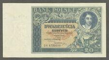 Poland 20 Zlotych 1931 UNC