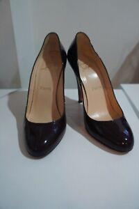Christian Louboutin Marron Patent classic heels sz 39/UK 6