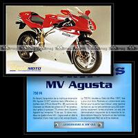 MV AGUSTA 750 F4 - Sport Bike Fiche Moto #OM1.41