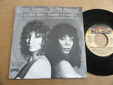 "DISQUE 45T DE DONNA SUMMER / BARBRA STREISAND  "" NO MORE TEARS """